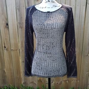 Fever Knit Boho Scoop Neck Sweater Size M